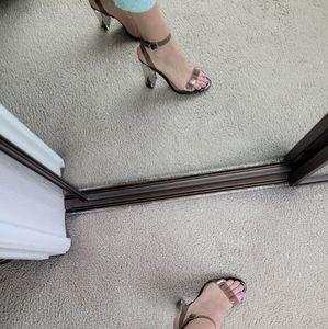 Mix no.6 clear vinyl straps sandals